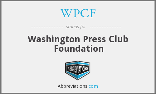WPCF - Washington Press Club Foundation