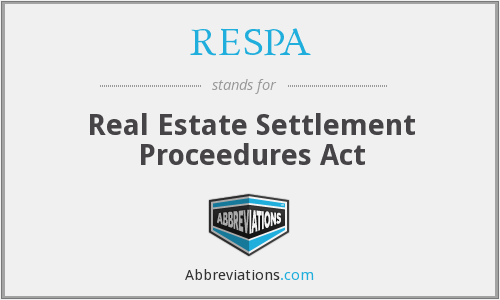 RESPA - Real Estate Settlement Proceedures Act