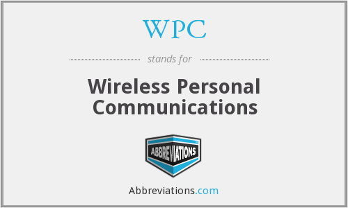 WPC - Wireless Personal Communications
