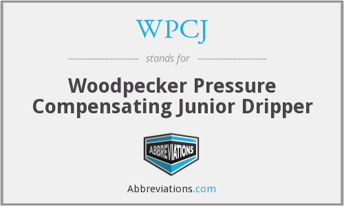 WPCJ - Woodpecker Pressure Compensating Junior Dripper