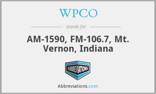 WPCO - AM-1590, FM-106.7, Mt. Vernon, Indiana