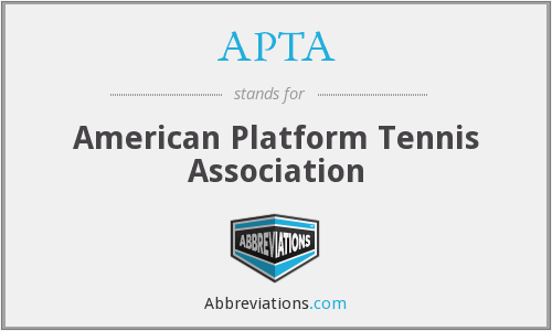 APTA - American Platform Tennis Association