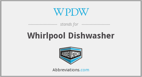 WPDW - Whirlpool Dishwasher