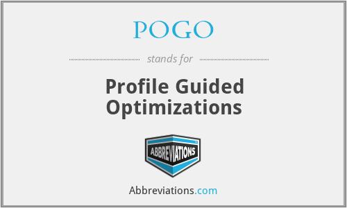 POGO - Profile Guided Optimizations