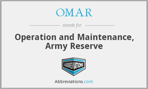 OMAR - Operation and Maintenance, Army Reserve