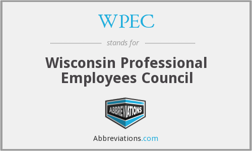 WPEC - Wisconsin Professional Employees Council