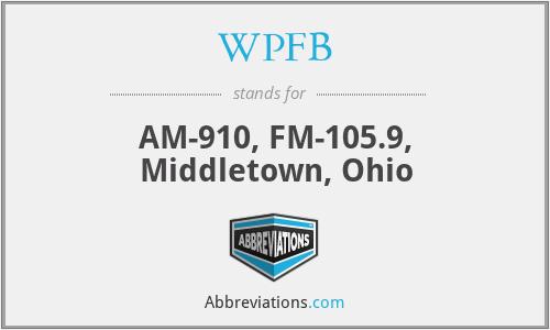 WPFB - AM-910, FM-105.9, Middletown, Ohio