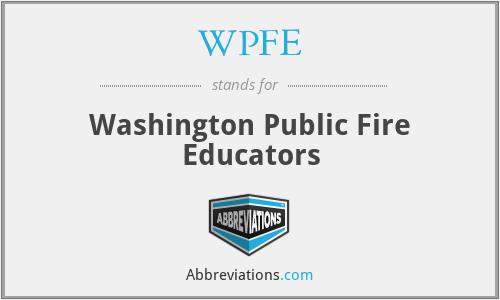 WPFE - Washington Public Fire Educators