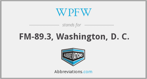 What does WPFW stand for?
