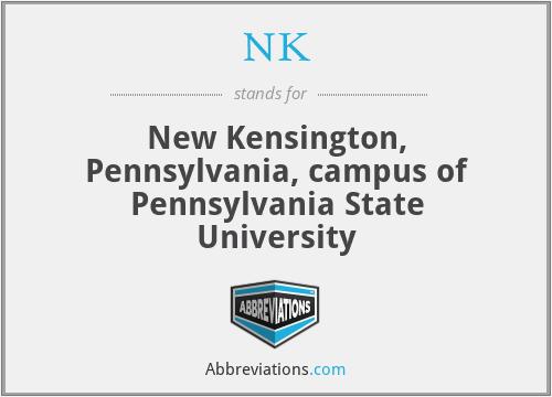 NK - New Kensington, Pennsylvania, campus of Pennsylvania State University