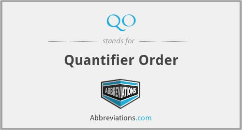 QO - Quantifier Order