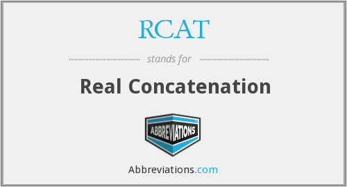 What does concatenation stand for?