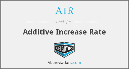 AIR - Additive Increase Rate