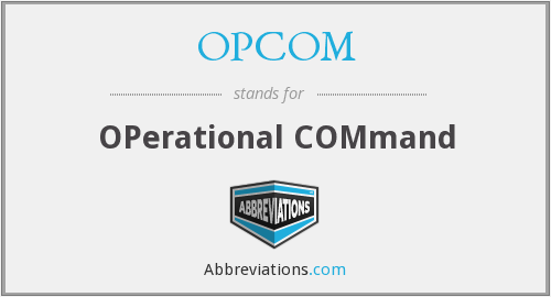 What does OPCOM stand for?
