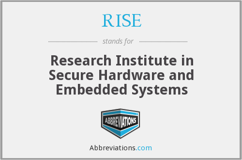 RISE - Research Institute in Secure Hardware and Embedded Systems