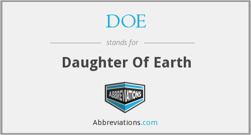 DOE - Daughter Of Earth