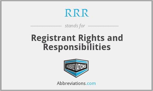 RRR - Registrant Rights and Responsibilities