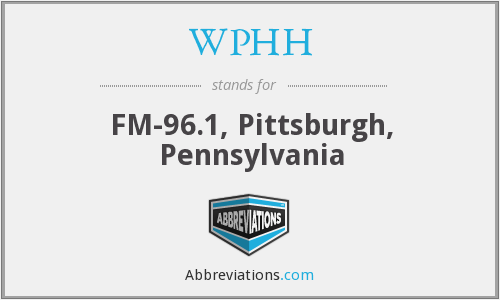 WPHH - FM-96.1, Pittsburgh, Pennsylvania