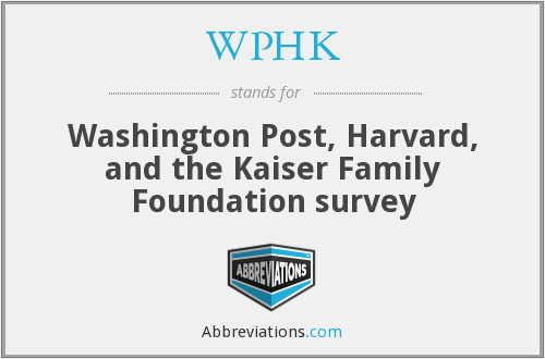 What does WPHK stand for?