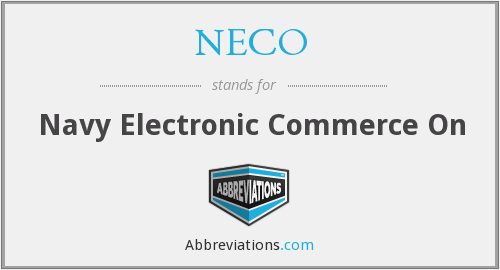 What does NECO stand for?