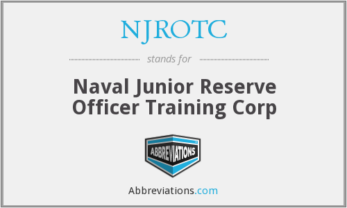 NJROTC - Naval Junior Reserve Officer Training Corp