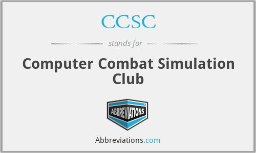 CCSC - Computer Combat Simulation Club