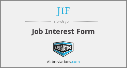 JIF - Job Interest Form