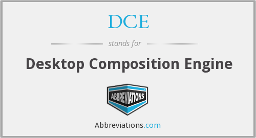 DCE - Desktop Composition Engine