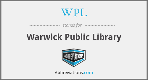 WPL - Warwick Public Library