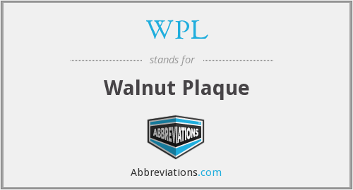 WPL - Walnut Plaque