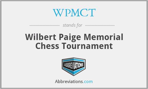 WPMCT - Wilbert Paige Memorial Chess Tournament