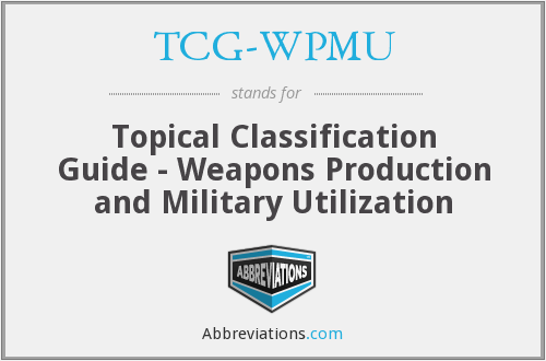 What does TCG-WPMU stand for?