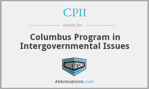 CPII - Columbus Program in Intergovernmental Issues