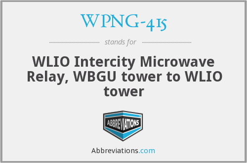 What does WPNG-415 stand for?