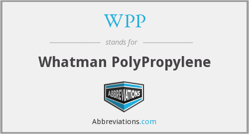 WPP - Whatman PolyPropylene