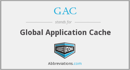 GAC - Global Application Cache