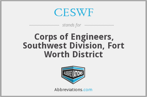 What does CESWF stand for?