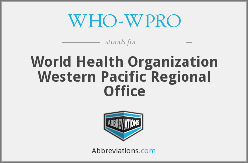 What does WHO-WPRO stand for?