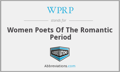WPRP - Women Poets Of The Romantic Period