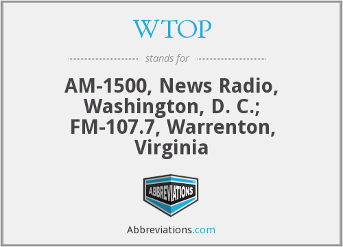 What does WTOP stand for?