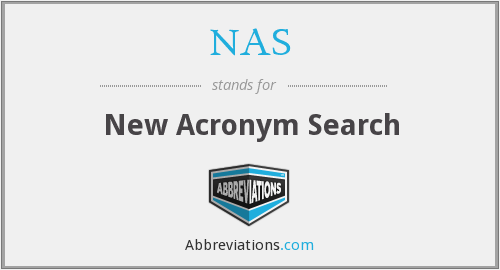 NAS - New Acronym Search