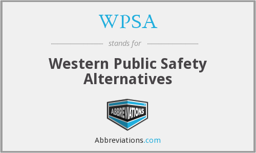 WPSA - Western Public Safety Alternatives