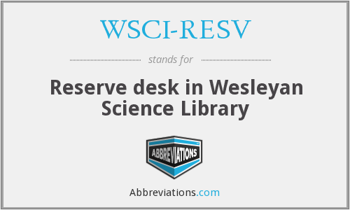 What does WSCI-RESV stand for?