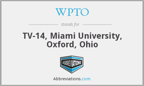 What does WPTO stand for?