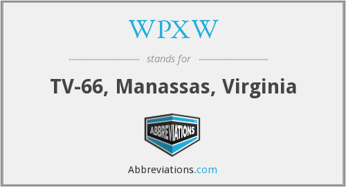What does WPXW stand for?