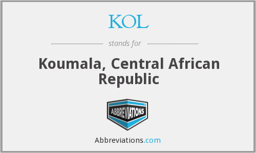 KOL - Koumala, Central African Republic