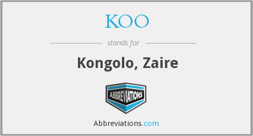 What does KOO stand for?