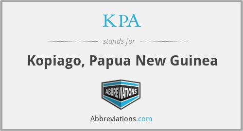KPA - Kopiago, Papua New Guinea