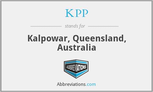 KPP - Kalpowar, Queensland, Australia