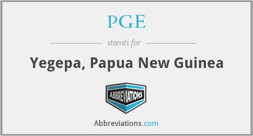 PGE - Yegepa, Papua New Guinea